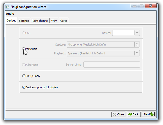 Configuring Fldigi